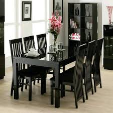 zone furniture black gloss dining table and 6 chairs