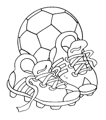 Voetbal Kleurplaat Voetbalschoen