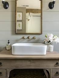 repurposed vanity with vessel sink