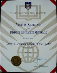 commonwealth of learning announces award winners race rocks the diploma for the excellence in distance education award