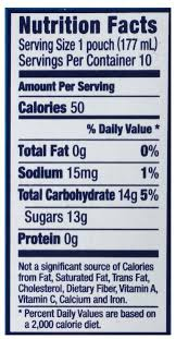 capri sun fruit punch juice drink nutrition facts