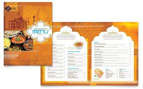 Menu Templates Design Indian Restaurant Menu Template Design Restaurant Menu Designs