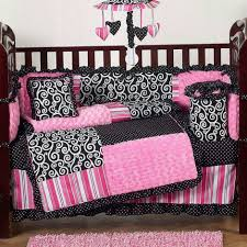 of girl baby nursery room decoration using light pink zebra cute baby girl bedding cribs including pink zebra baby bed valance and light pink and black