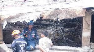 วสท. เตรียมลงพื้นที่ตรวจสอบโครงสร้างบ้าน 3 ชั้นไฟไหม้ถล่ม