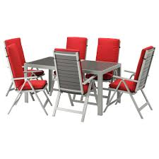outdoor table and chairs. IKEA SJÄLLAND Table+6 Reclining Chairs, Outdoor Easy To Fold Up And Put Away Table Chairs