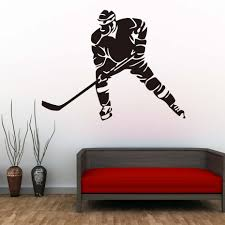 DCTOP Hockey Player Wall Decals Ice Sports Home Decor Vinyl Removable DIY  Silhouette Wall Stickers Kids Room Nursery Art Murals-in Wall Stickers from  Home ...