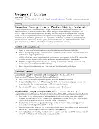 Professional Statement Examples Page 2 Creative Director Resume