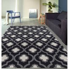 plastic area rug new moroccan trellis pattern high quality soft dark gray area rug 2 x