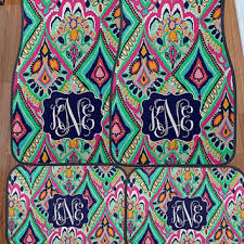 lilly pulitzer inspired crown jewels floor mats