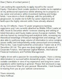 sample cold call cover letters cover letter vault com sample cold call cover letters cover letter vault com equity trader cover letter