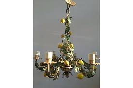 vintage italian tole chandeliers vintage tole lemon chandelier photo 1 vintage italian tole chandelier