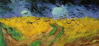 "dont miss imagine van gogh exhibition at la grande halle de la  ""and what did van gogh wanted hilself to tell this over low sky paintingwork painted as the precise moment he delivers himself from existence"