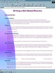 What Should Your Objective Be On Your Resume Writing a SkillBased Resume Name Address Objective Skill 26