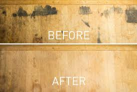 picture of removing black stains in wood furniture with oxalic acid