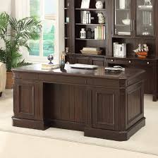 sherry furniture. Parker House Stanford Double Pedestal Executive Desk In Sherry Furniture S
