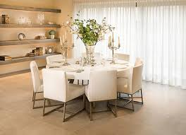 ... Dining Tables, Excellent White Round Modern Marble Dining Table  Centerpiece Ideas Varnished Design: cool ...