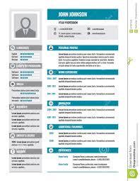 Zusammenfassung Lebenslauf Vektorkonzeptplan Im Format A4