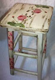 decoupage furniture ideas. decoupage on a vintage stool with distressed paint and finished we think furniture ideas e