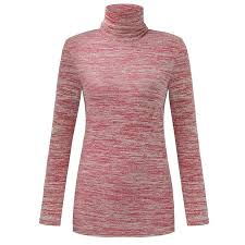 Walmart Womens Size Chart Womens Slim Fit Stretch Long Sleeve Turtleneck Tops Printed Blouses