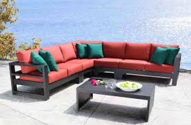 outdoor sectional cast aluminum patio furniture aura modern luxury outdoor sectional in toronto