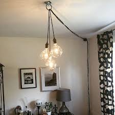 pendant lights unique chandelier plug
