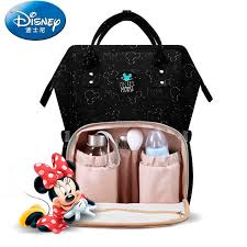<b>Disney</b> Nappy <b>Backpack</b> Diaper <b>Bag USB</b> Heating Maternity Travel ...