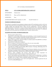 Administrative Assistant Job Description Resume 24 Administrative Assistant Job Description Samples Time Table Chart 16