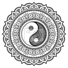 Fototapeta Vector Henna Tetování Mandala Jin Jang Dekorativní Symbol Mehndi