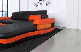 170126 modenal blackorange cam02 1 lovely modern leather corner sofas 22