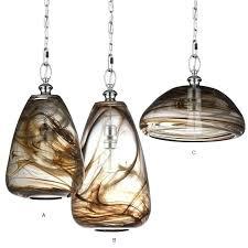 light modern blown smoking glass pendant lighting smoke light nz