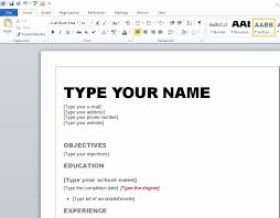 Resume Templates For Microsoft Word 2007 Interesting Resume Template On Microsoft Word 28 Microsoft Word 28 Resume