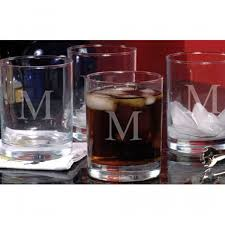 engraved etched drinking glasses set of 4