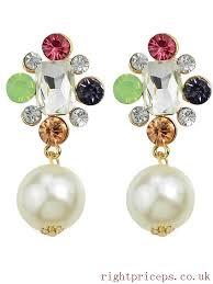 beads big chandelier earrings