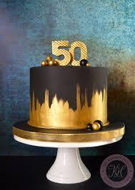 Gold 50th Birthday Cake Anna Adams Flickr