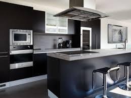 Kitchen Luxury Black Kitchen Decor With U Shape Modern Kitchen