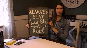 diy wood stenciled sign with silhouette cameo