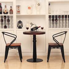 the new american iron coffee bar cafe tables and chairs combination of retro old wooden table and a small round table