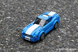ford mustang top view. lego 75871 ford mustang gt - top view from front d