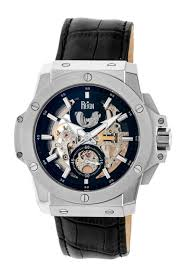 reign men s commodus watch in silver and black reign men s commodus watch in silver and black