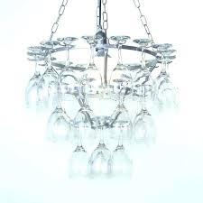 wine glass chandelier holder s rack diy w