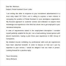 retail assistant cover letter download retail covering letter