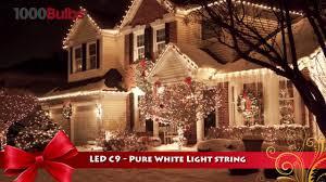 C9 Christmas Lights C9 Clear White Christmas Lights Pogot Bietthunghiduong Co
