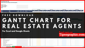 Simple Gantt Chart Template For Real Estate Agents Excel
