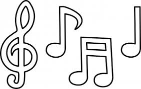 Music Notes Coloring Page Funycoloring