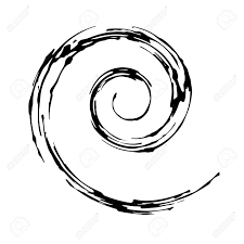 Spiral Design Creative Spiral Design With Hand Drawn Brush And Easy To Change