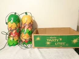 Retro Camper Party Lights Vintage Noma Tulip Patio Camping Party Lites Total Of 14
