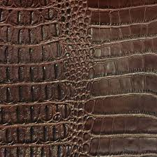 shason textile faux leather crocodile print upholstery fabric brown available in multiple colors com