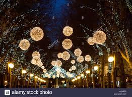 Decorations In Spain Christmas Decorations In Street Palma De Majorca Spain Europe
