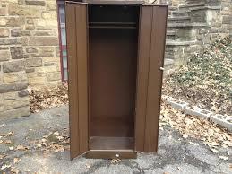 vintage steel furniture. perfect furniture brown metal wardrobe cabinet side open  and vintage steel furniture s