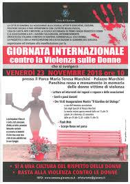 Giornata Internazionale contro la Violenza sulle Donne – Venerdì 23  novembre 2018